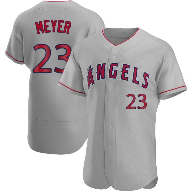Men's Alex Meyer Los Angeles Angels of Anaheim Authentic Gray Road Jersey
