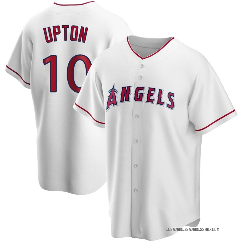 Men's Justin Upton Los Angeles Angels of Anaheim Replica White Home Jersey