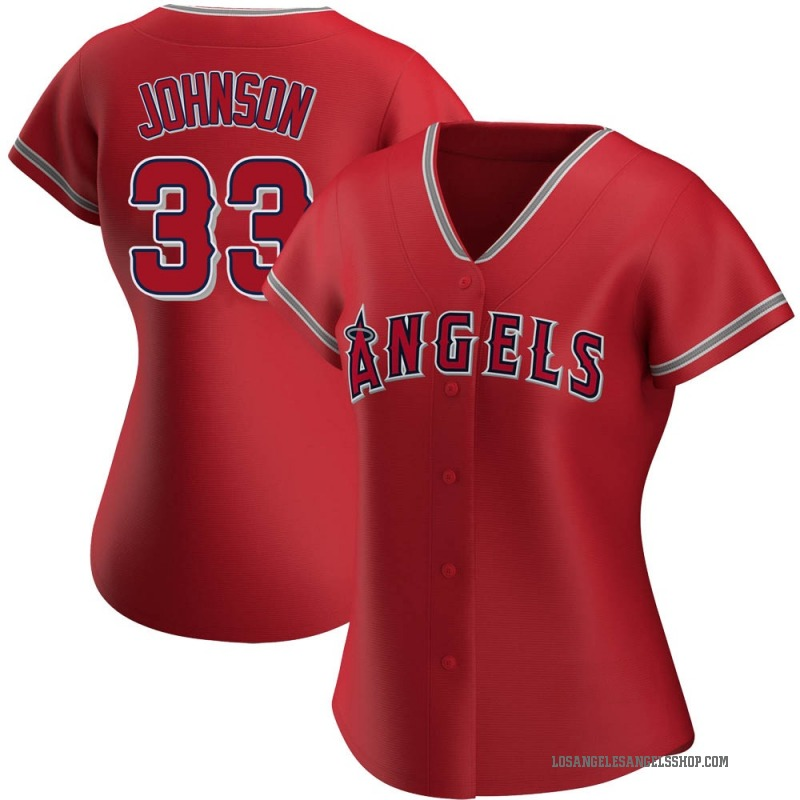 Women's Jim Johnson Los Angeles Angels of Anaheim Authentic Red Alternate Jersey