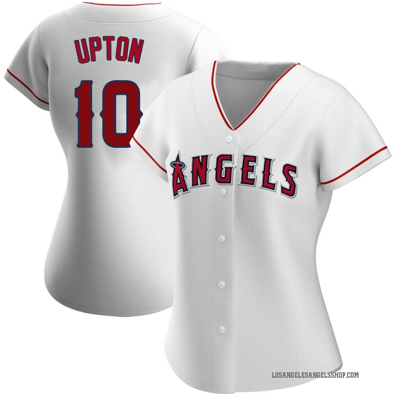 Women's Justin Upton Los Angeles Angels of Anaheim Authentic White Home Jersey