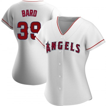 Women's Luke Bard Los Angeles Angels of Anaheim Replica White Home Jersey