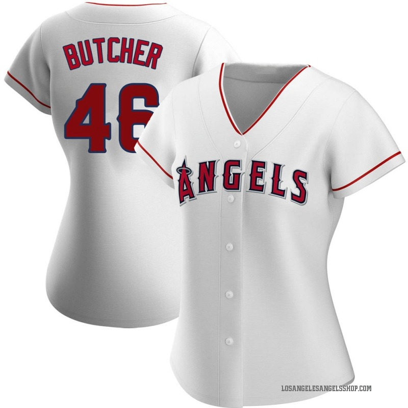 Women's Ryan Butcher Los Angeles Angels of Anaheim Replica White Home Jersey