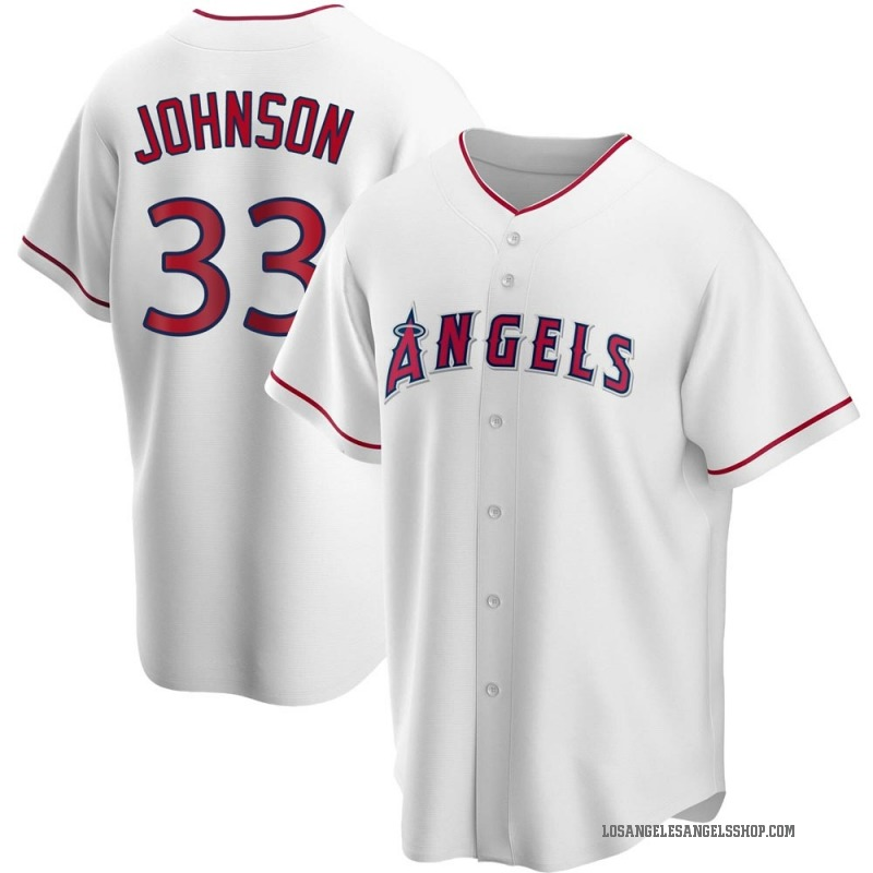 Youth Jim Johnson Los Angeles Angels of Anaheim Replica White Home Jersey