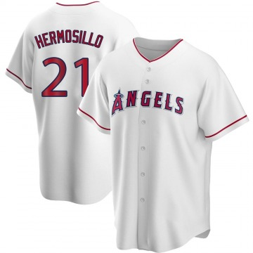 Youth Michael Hermosillo Los Angeles Angels of Anaheim Replica White Home Jersey