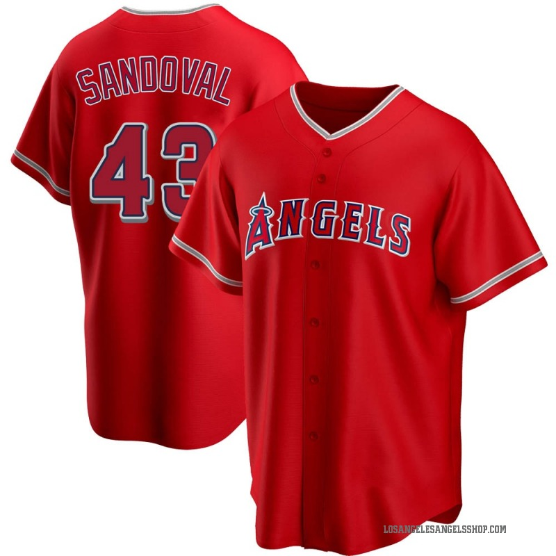 Youth Patrick Sandoval Los Angeles Angels of Anaheim Replica Red Alternate Jersey