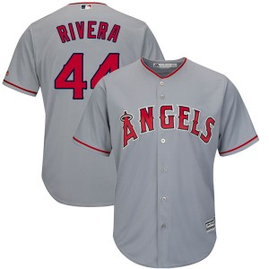 Youth Majestic Rene Rivera Los Angeles Angels of Anaheim Player Authentic Gray Cool Base Road Jersey
