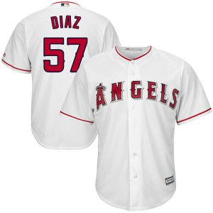 Men's Majestic Dayan Diaz Los Angeles Angels of Anaheim Player Authentic White Cool Base Home Jersey