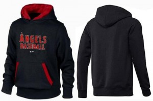 Men's Nike Los Angeles Angels of Anaheim Player Black/Red Pullover Hoodie -