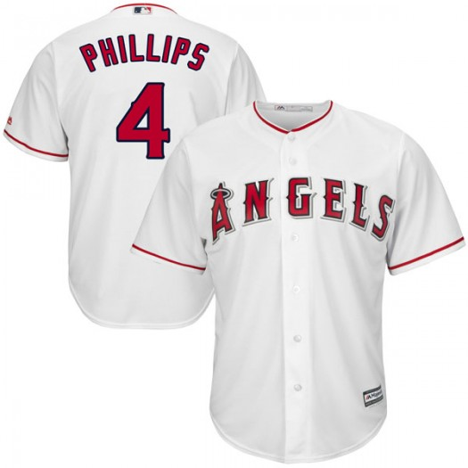 Youth Majestic Brandon Phillips Los Angeles Angels of Anaheim Player Authentic White Cool Base Home Jersey