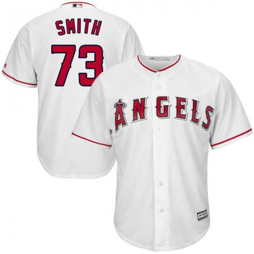 Men's Majestic Nate Smith Los Angeles Angels of Anaheim Player Authentic White Cool Base Home Jersey