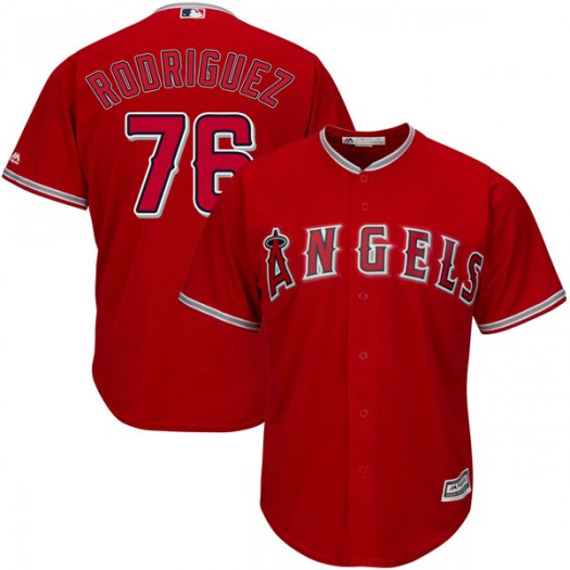Youth Majestic Chris Rodriguez Los Angeles Angels of Anaheim Player Replica Scarlet Cool Base Alternate Jersey